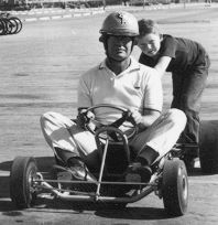 Dad and Bruce with Kart